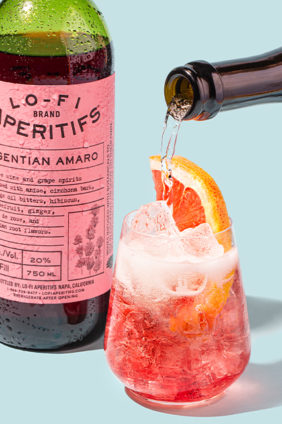 lo-fi aperitifs drink garnish